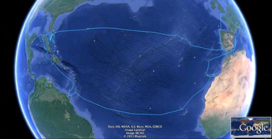 The Atlantic circle
